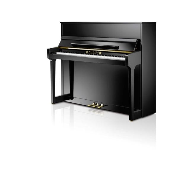 Wihelm Schimmel 118cm klaver blank sort